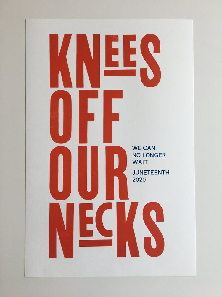 Image of Knee Off Our Necks poster