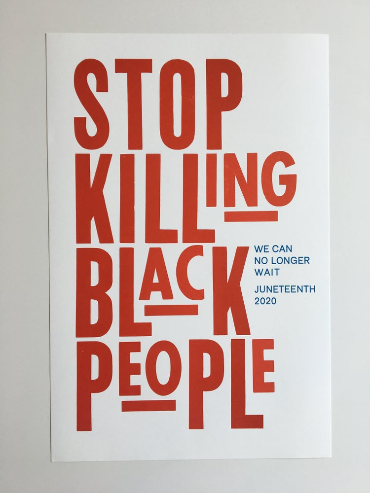 Image of Stop Killing Black People poster