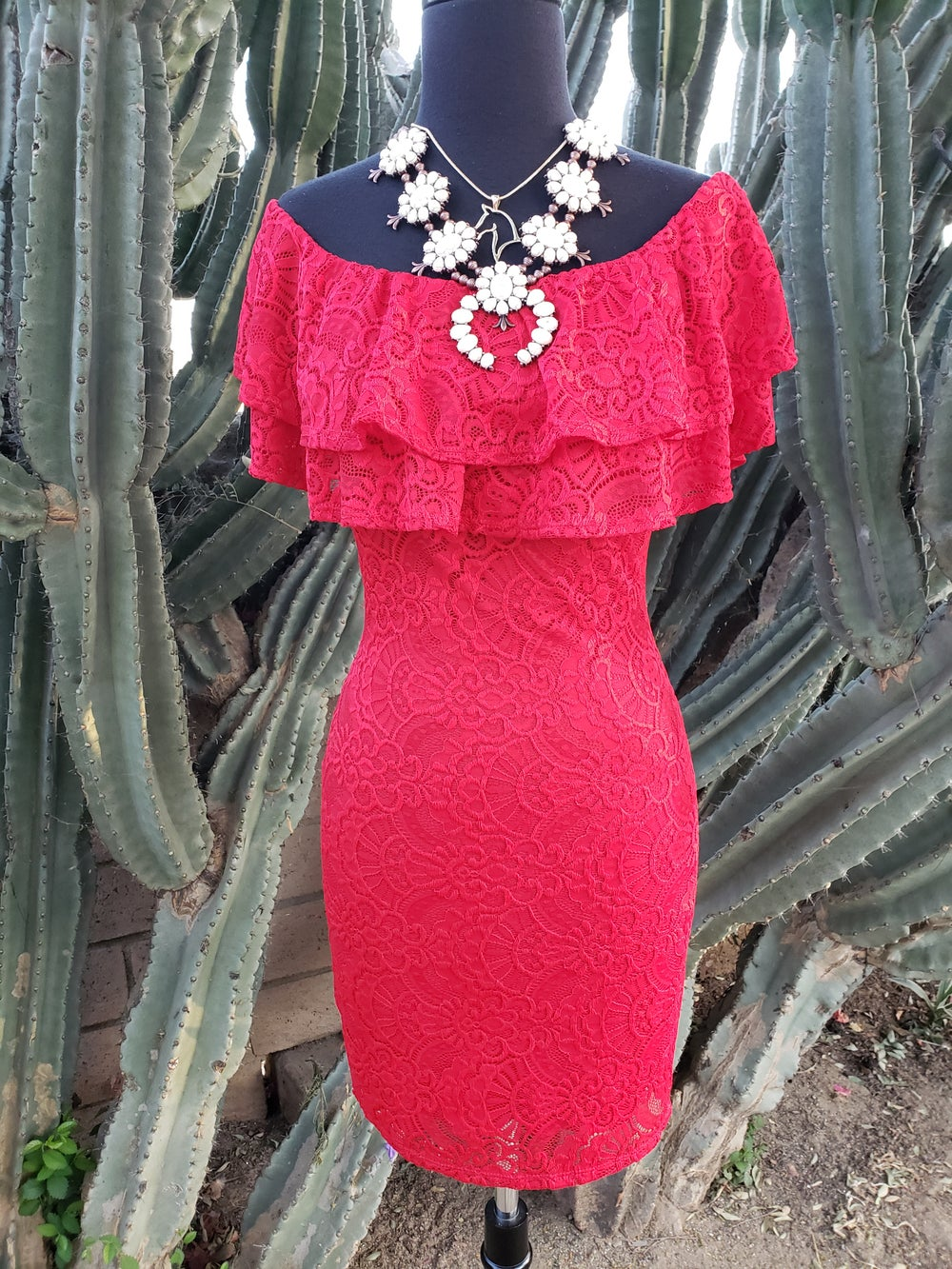 Image of Fire Red Dress