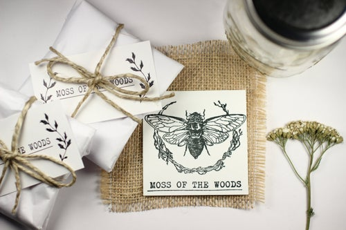 Image of Wormwood (Artemisia absinthium) - Pressed Earrings #4