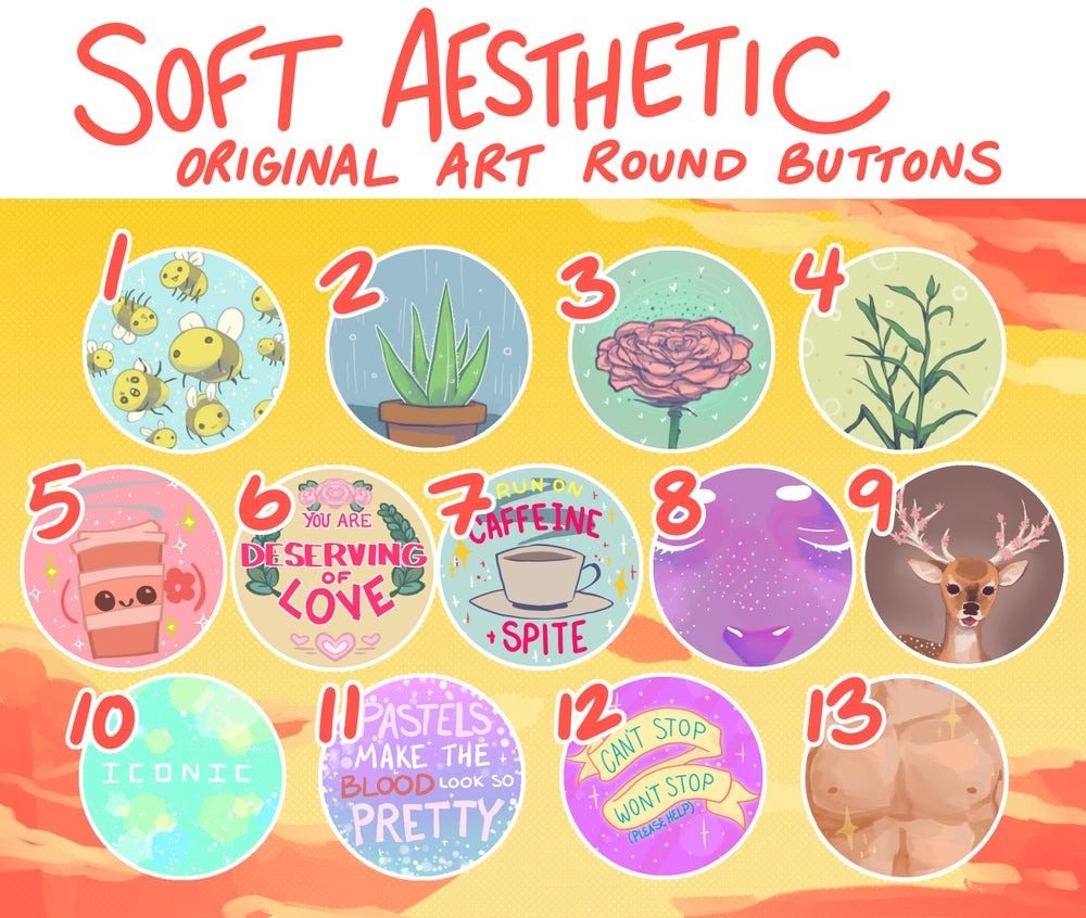 Soft Aesthetic Buttons!