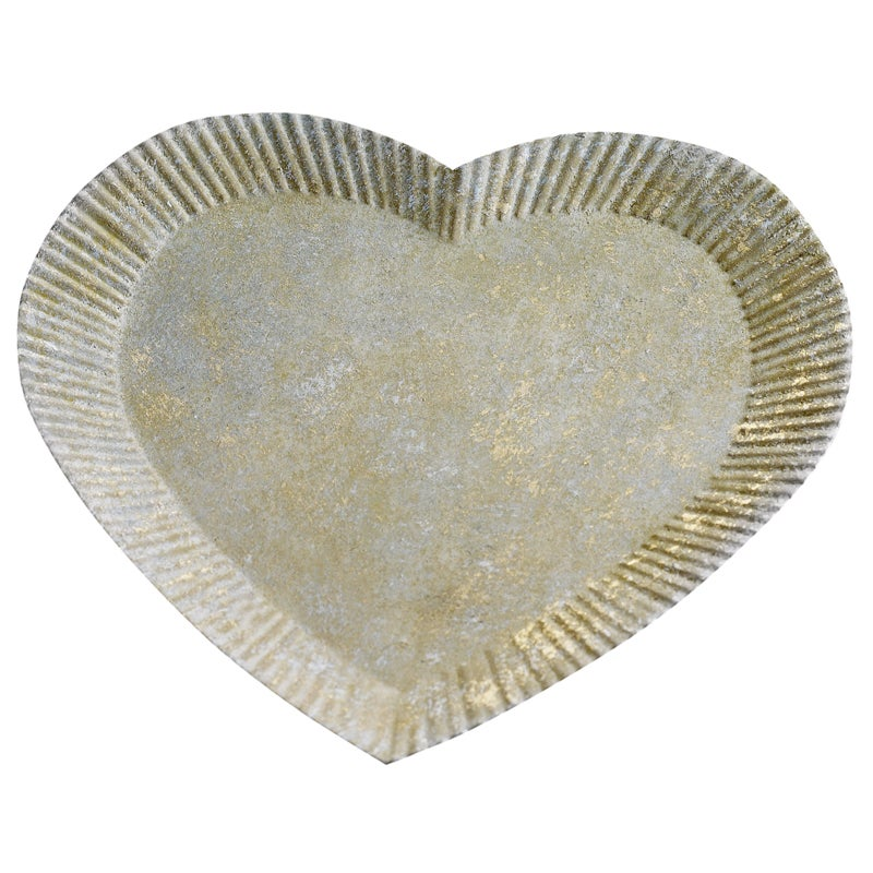 Image of Metal Heart Candle Base