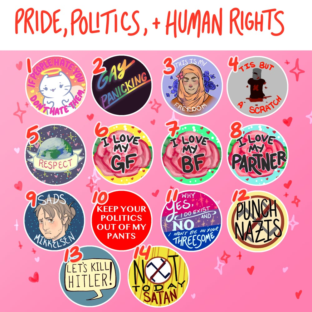 Pride, Politics, and Human Rights Buttons!