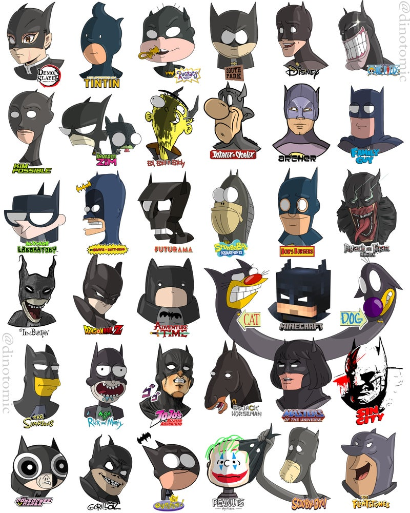 Image of #226 Batman drawn in 36 styles