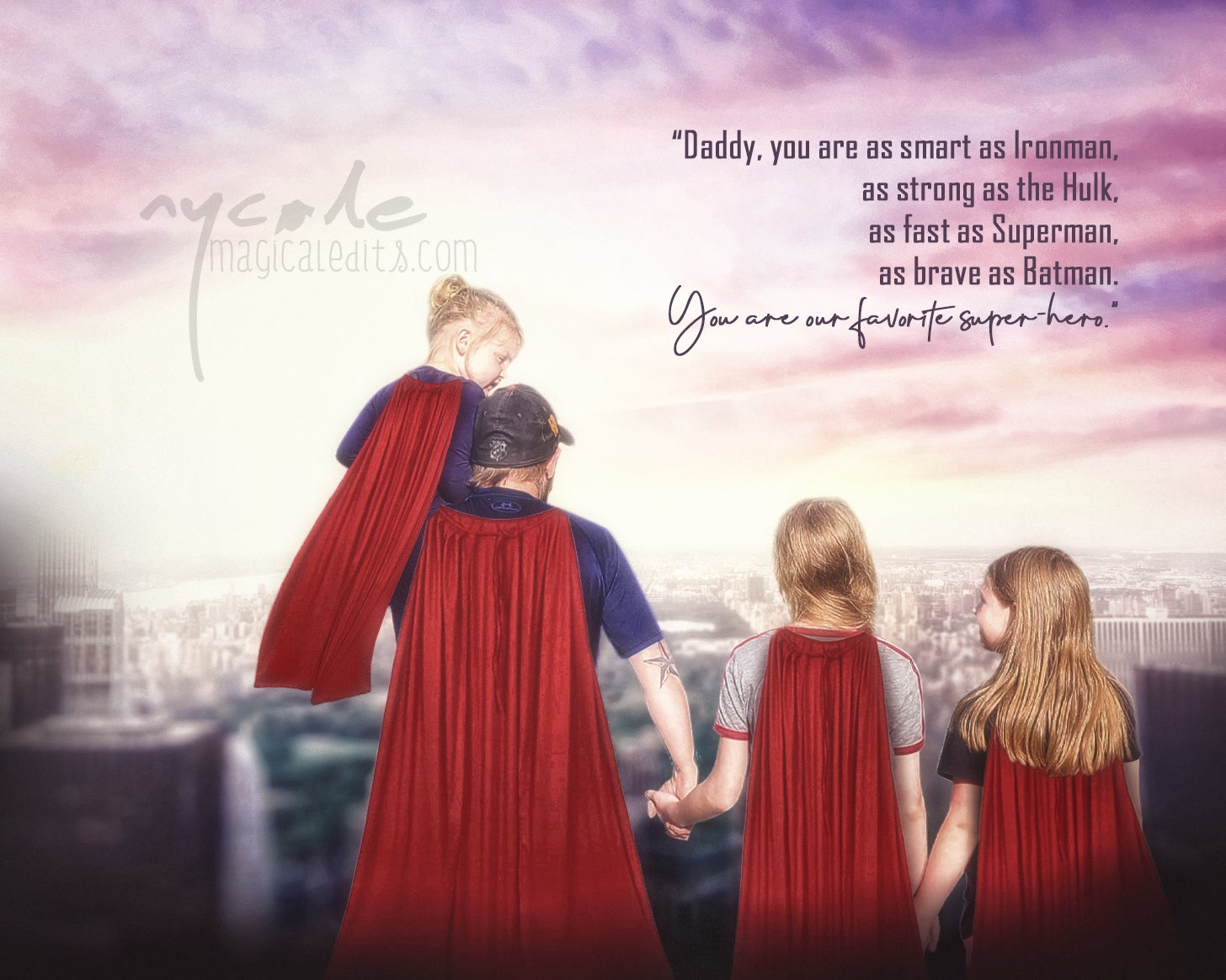 Image of SuperHero Father's Day Edit