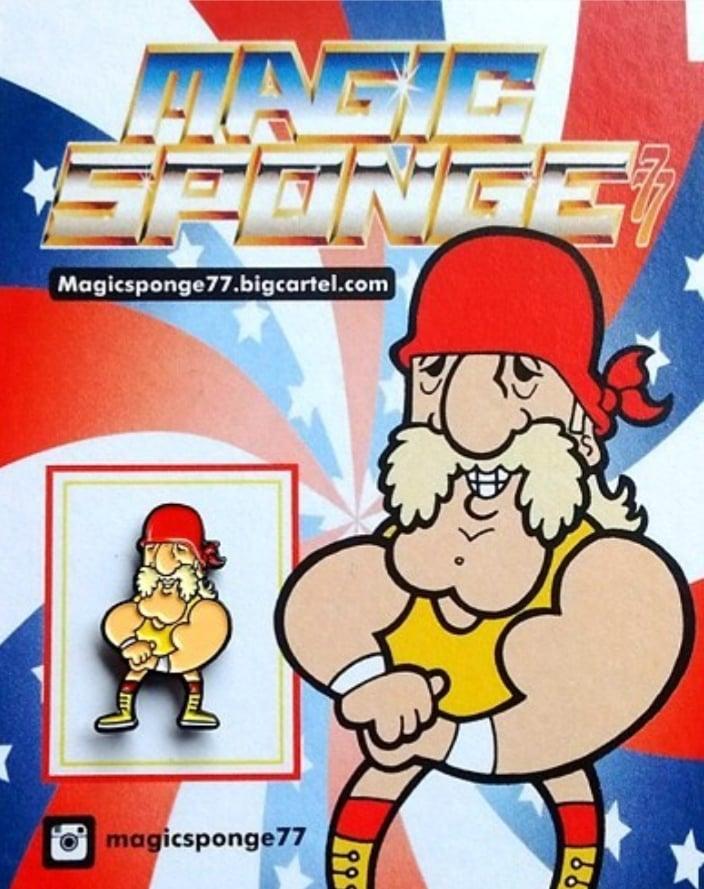 Image of Hulk Hogan Wee WWF Pin.