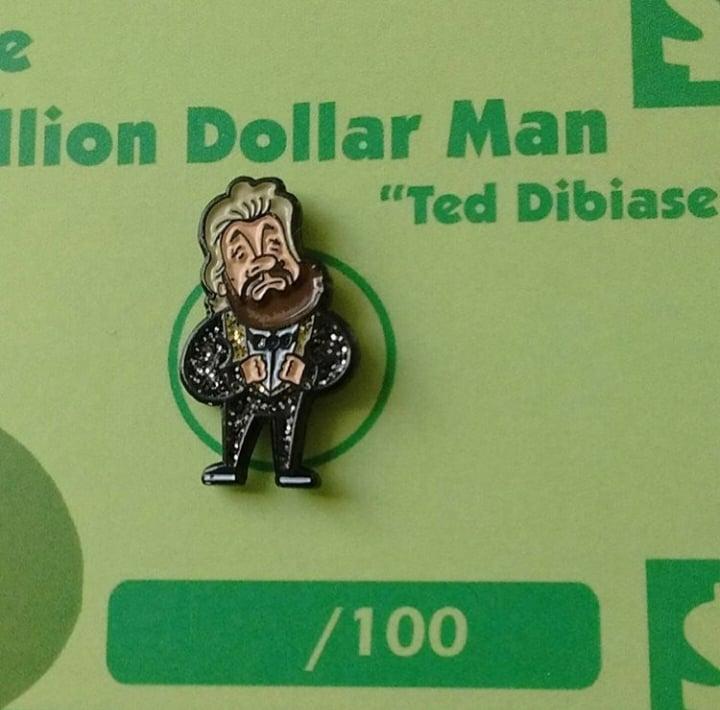Image of The Million Dollar Man Ted Dibiase (Glitter Pin)