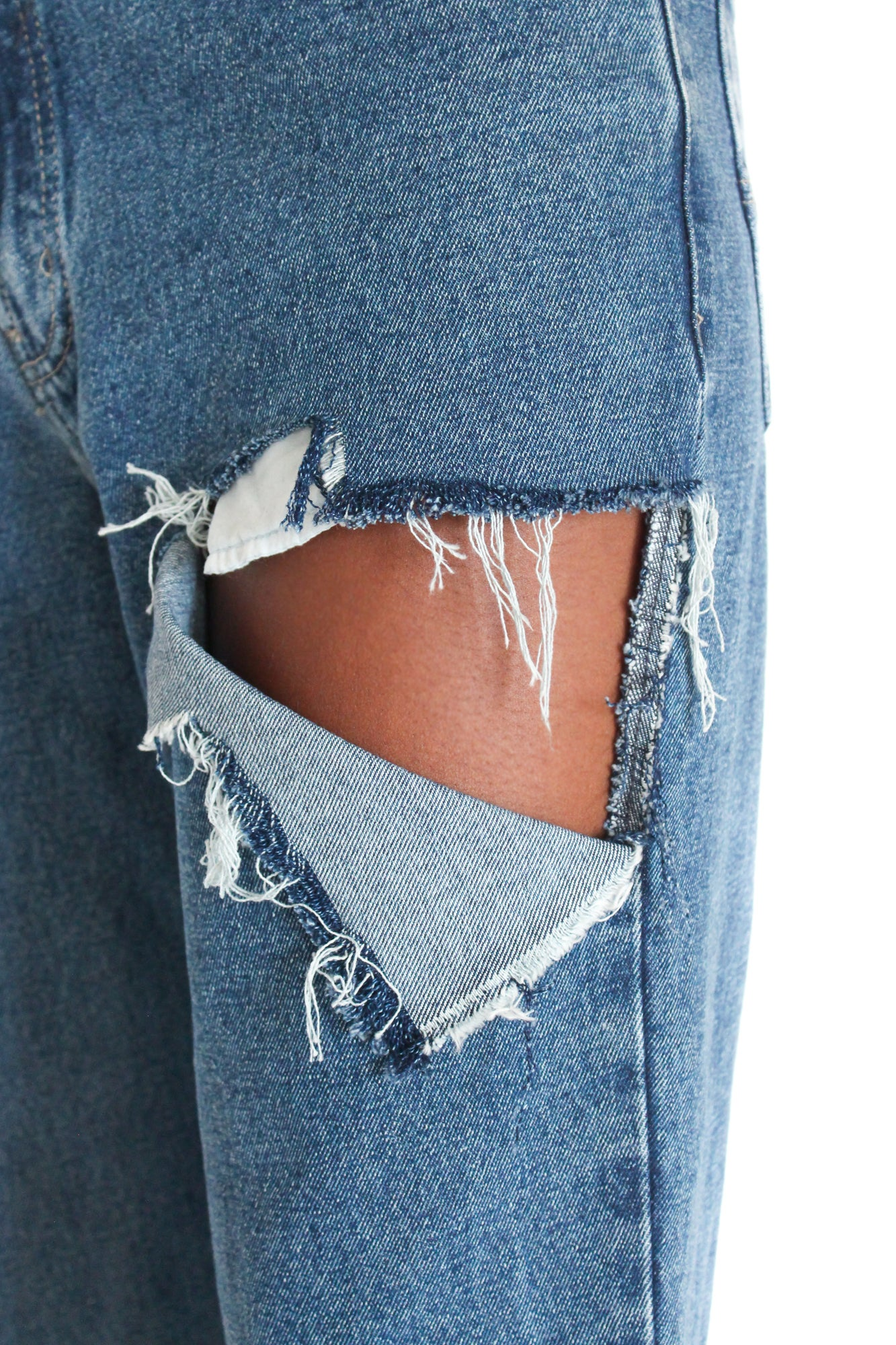 Image of 'TALON' SHREDDED JEANS