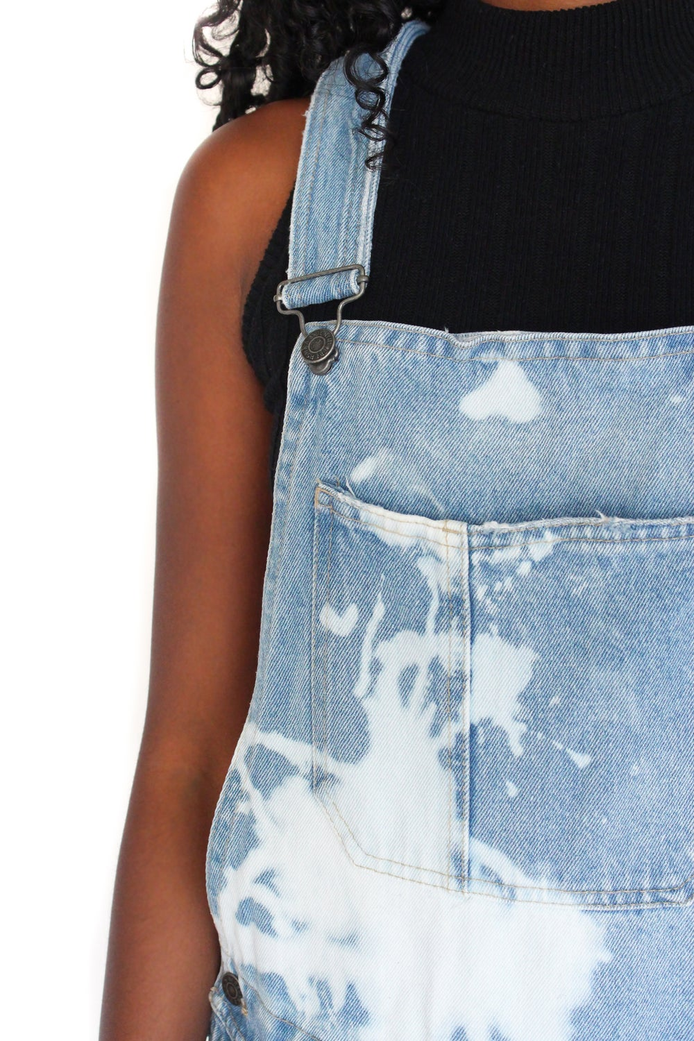Image of 'HOBBYCRAFT' BLEACHED DUNGAREES