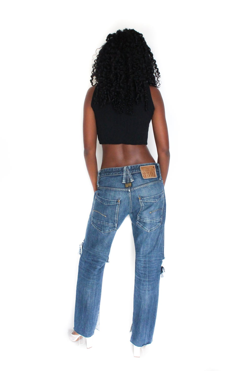 Image of 'CALLOW' SHREDDED JEANS