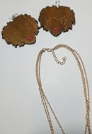 Image 3 of Naturally Queen Earrings & Drop Layered Necklace Set