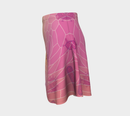 Image 2 of Geometric Virus Skater Skirt - Pink