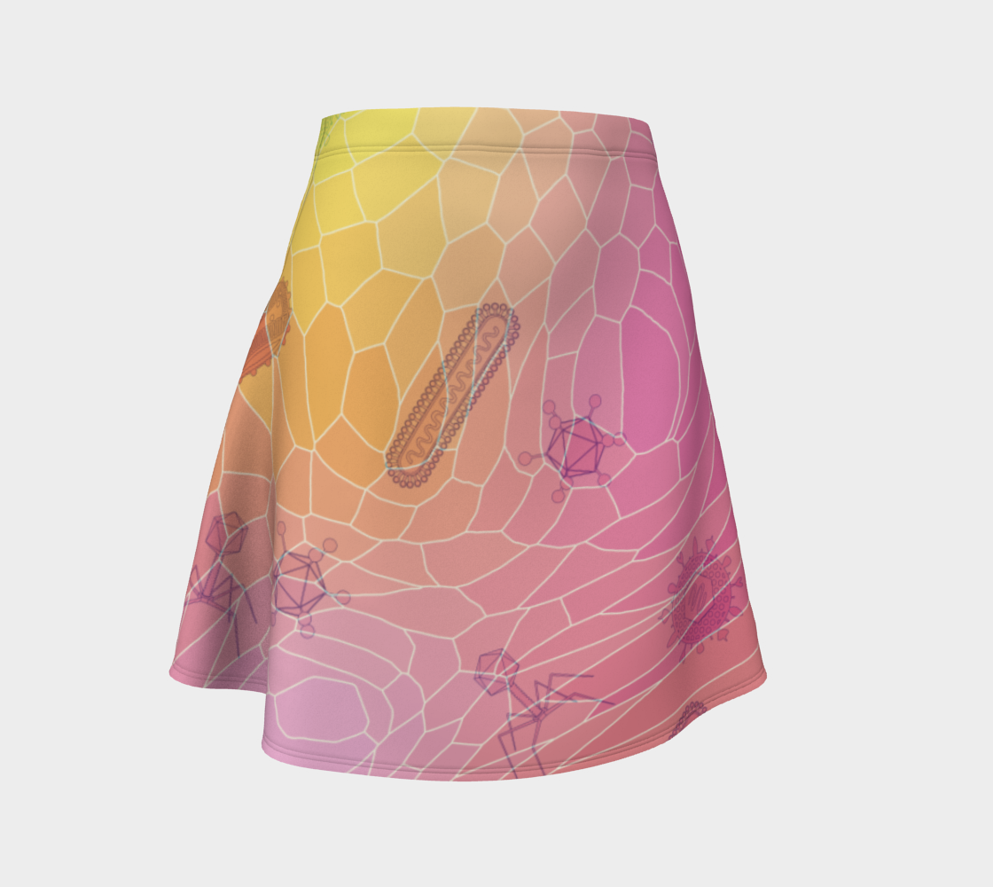 Image of Geometric Virus Skater Skirt - Pink