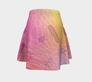 Image 4 of Geometric Virus Skater Skirt - Pink