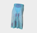 Image 3 of Geometric Virus Skater Skirt - Blue