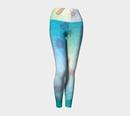 Image 1 of Geometric Virus Yoga Leggings - Blue
