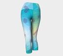 Image 3 of Geometric Virus Yoga Capris - Blue
