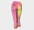 Image 3 of Geometric Virus Yoga Capris - Pink