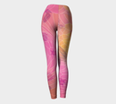 Image 4 of Geometric Virus Yoga Leggings - Pink