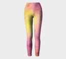 Image 2 of Geometric Virus Yoga Leggings - Pink