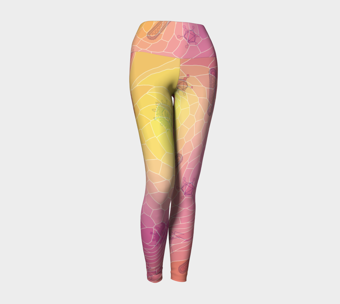 Image of Geometric Virus Yoga Leggings - Pink