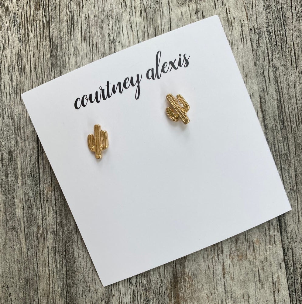 Image of Dainty cactus studs