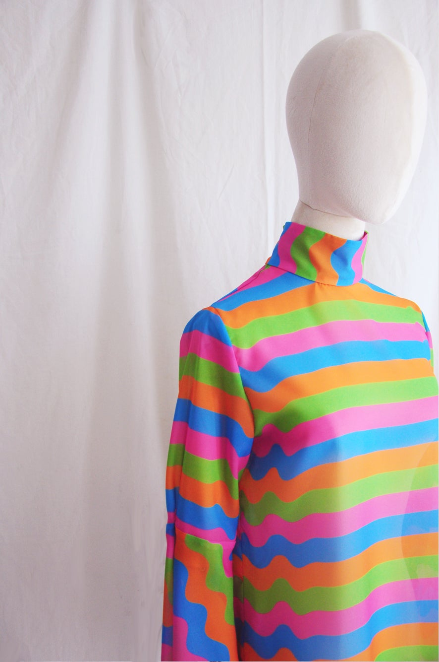 Image of STRIPES PRINT BLOUSE