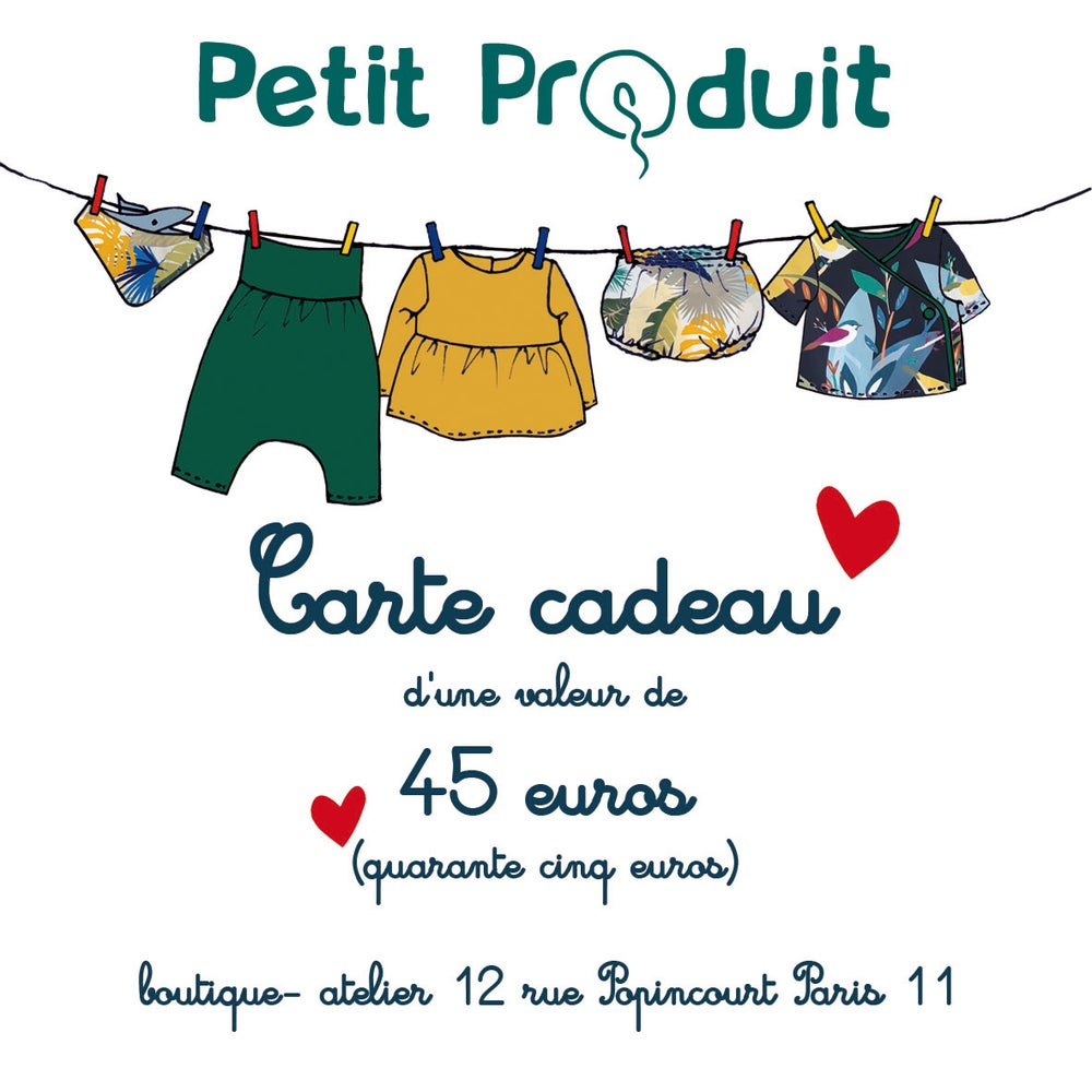Image of CARTE CADEAU 45 euros