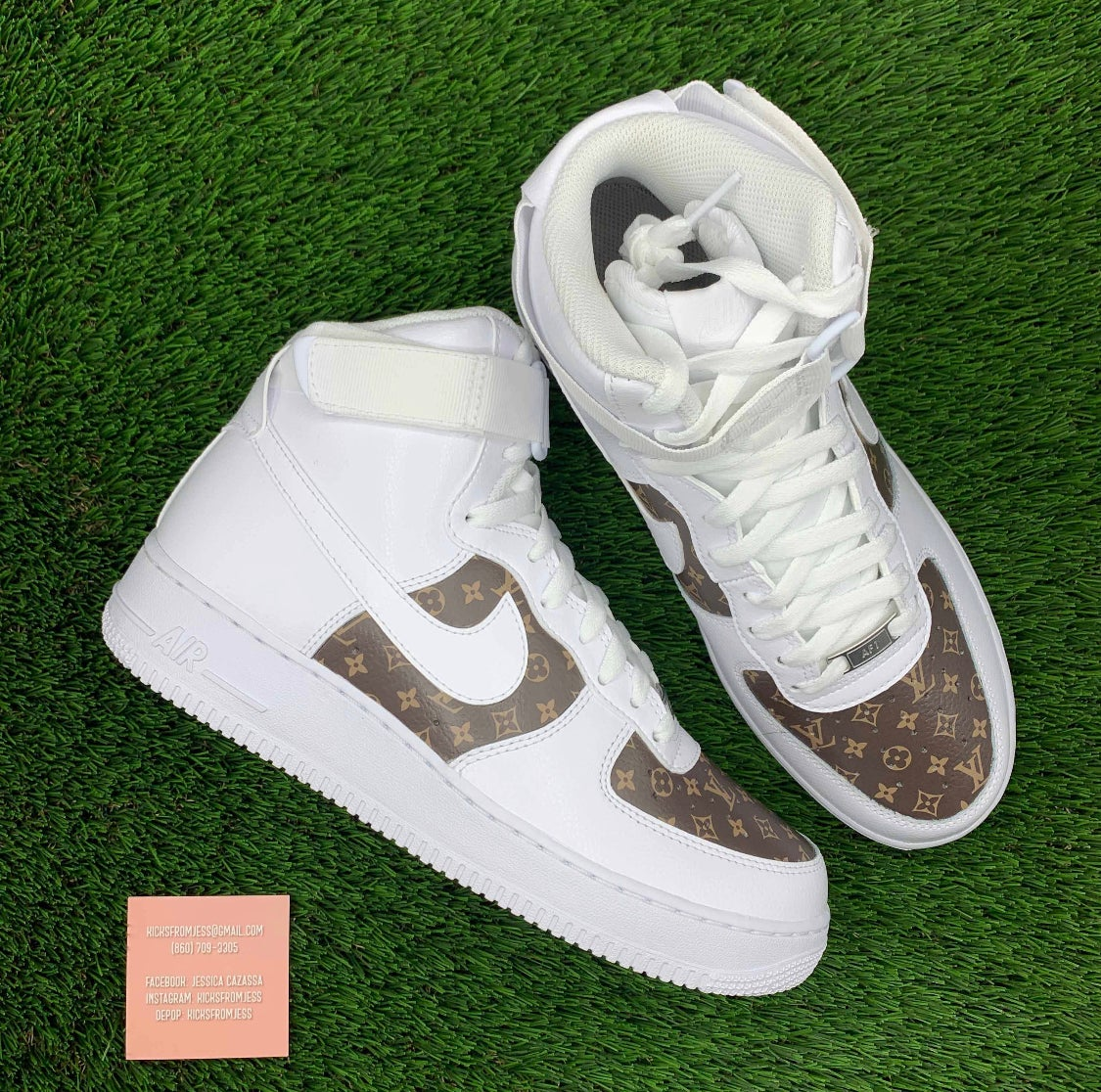 Air Force 1 Hightop Brown Lv Kicksfromjess