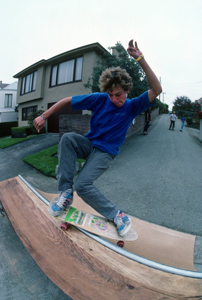 Danny Sargent, Smith Grind, San Francisco 1987 by Tobin Yelland