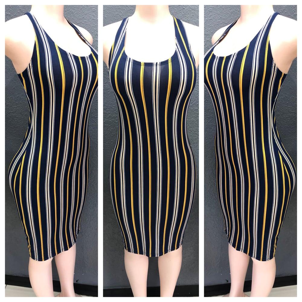 Image of Olivia Navy Stripe 👗