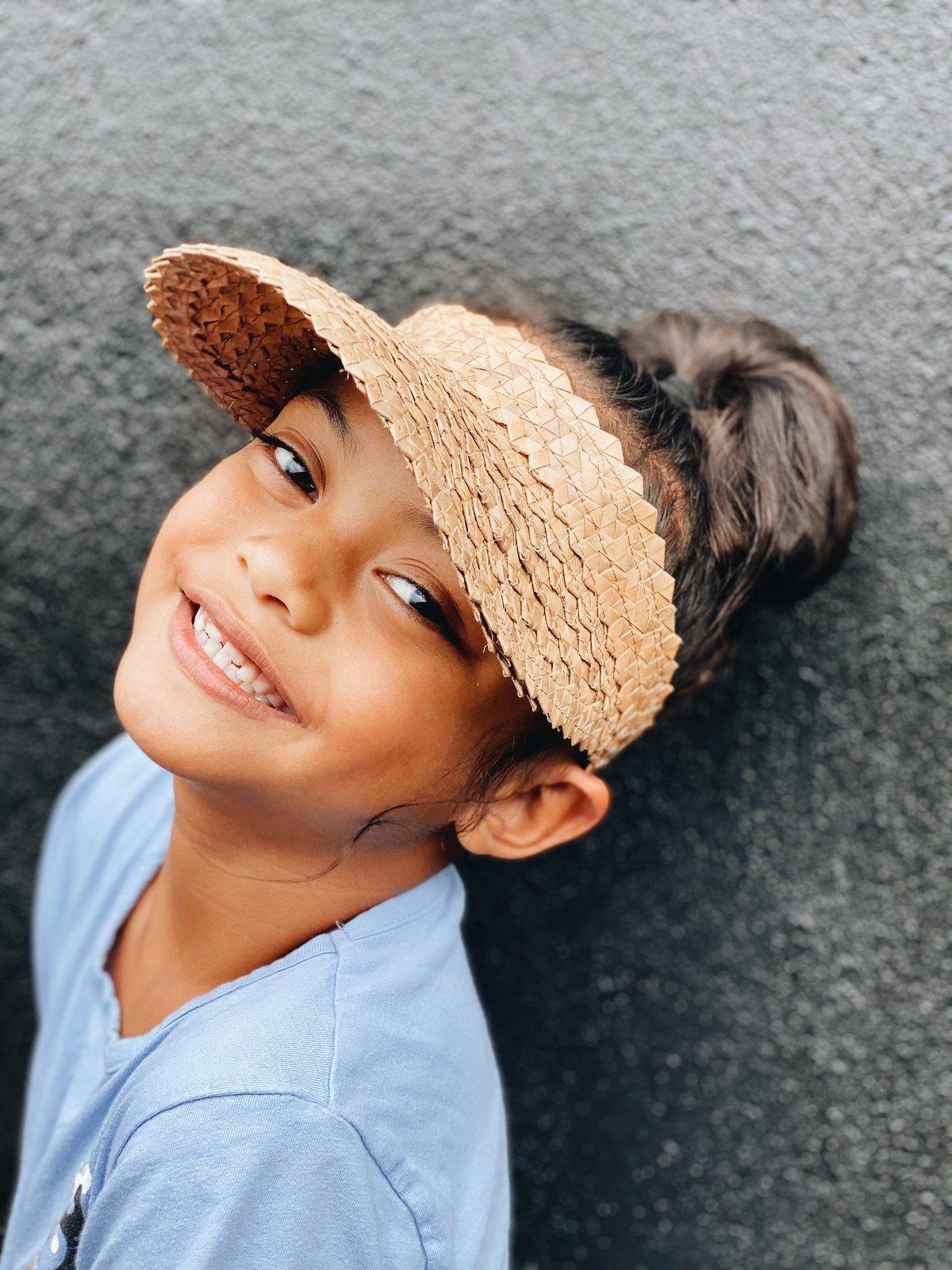 Image of Faux Hala Visor - Keiki (Kids)