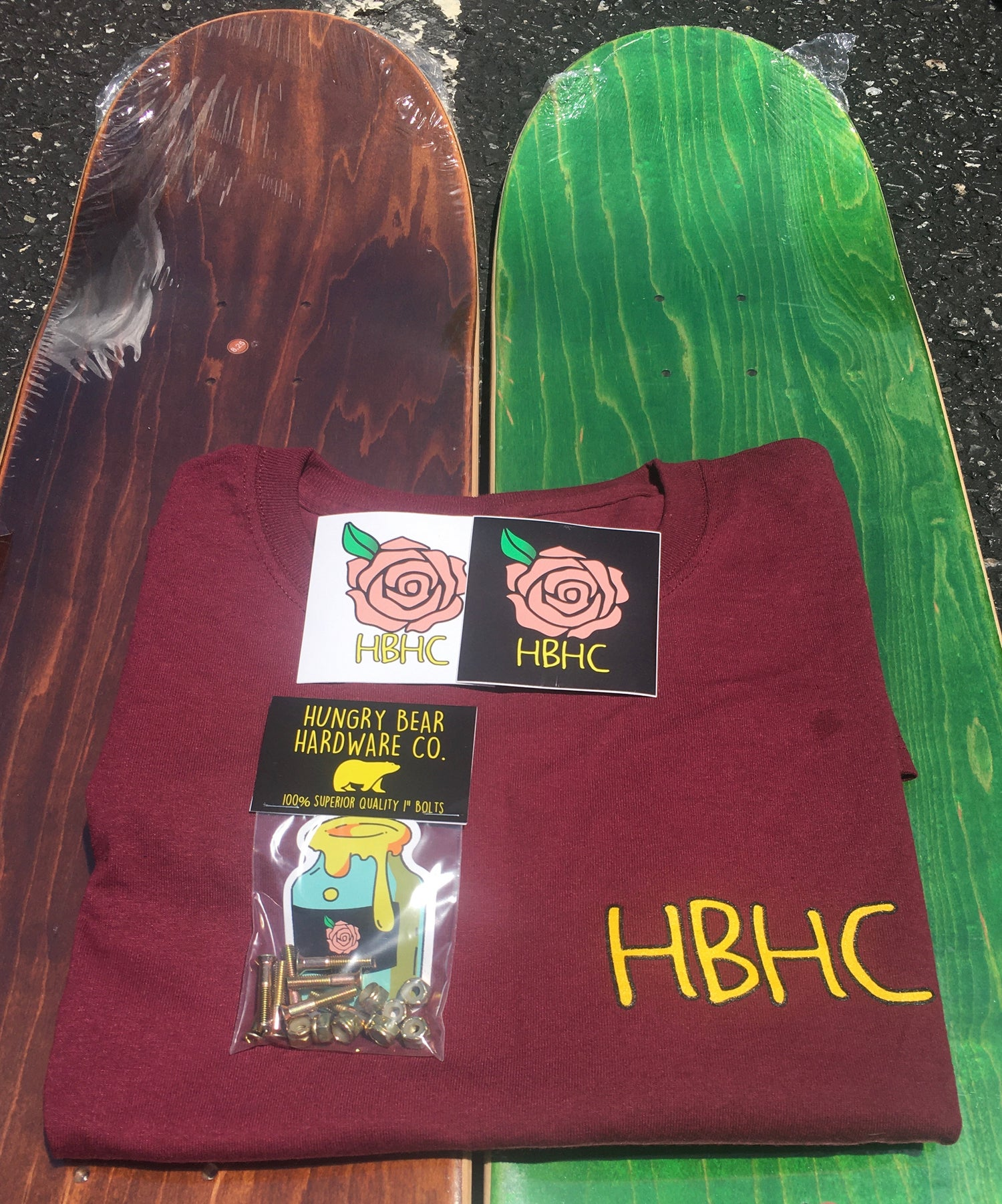 """Image of Hungry Bear """"Rose"""" tee & bolts combo"""