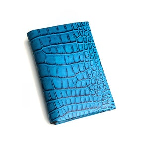 Image of Miami Blue Alligator seamless cardholder