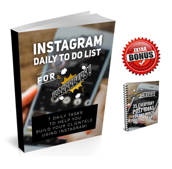 Image of 35 Post Ideas & Instagram Daily To Do List! 7 Daily Tasks To Help You Build Your Clientele!