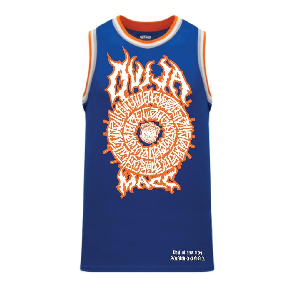 Image of The Secret Glyph of Wasteland - Warriorz Basketball jersey - Blue/Orange