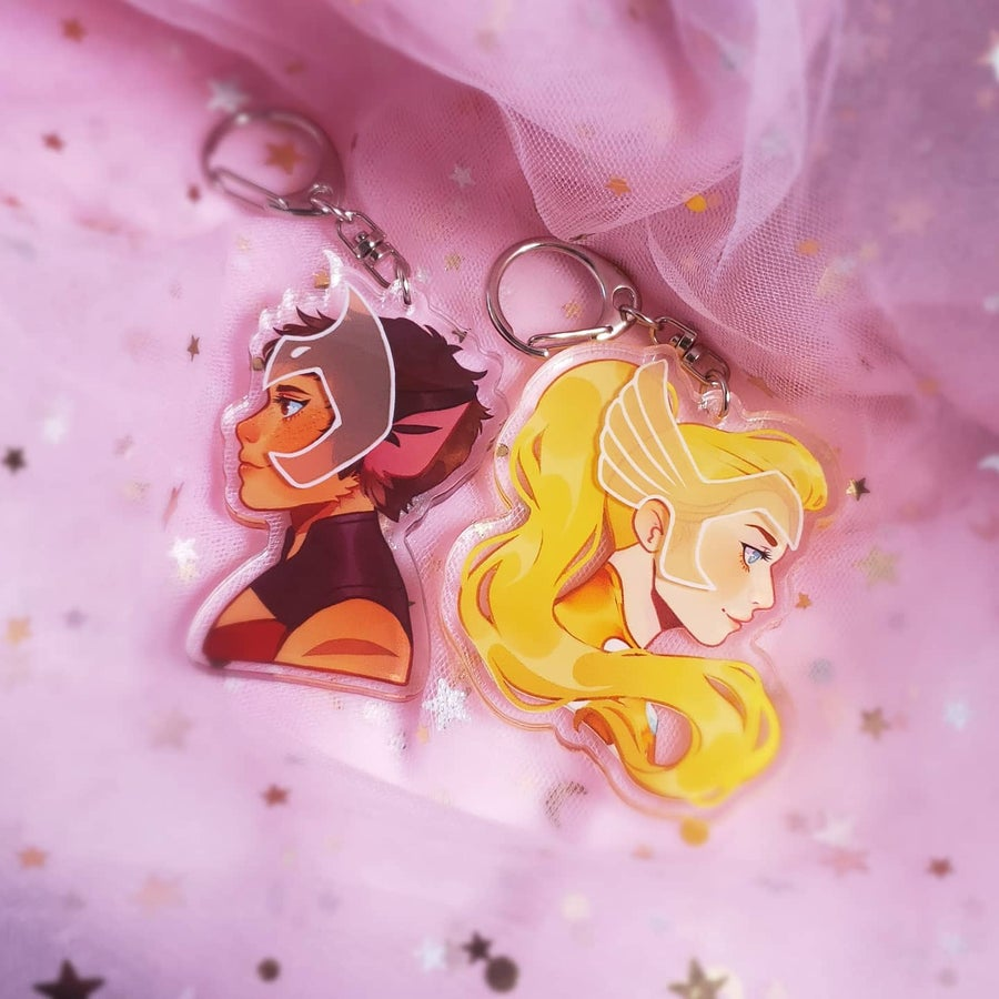 Image of Shera + Catra 3D Charms