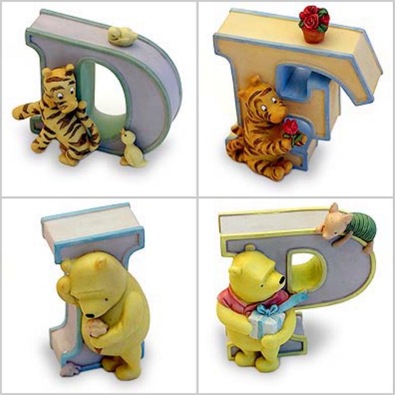 Image of Classic Pooh Alphabet Letter ~ D, F, I, P, Q, W