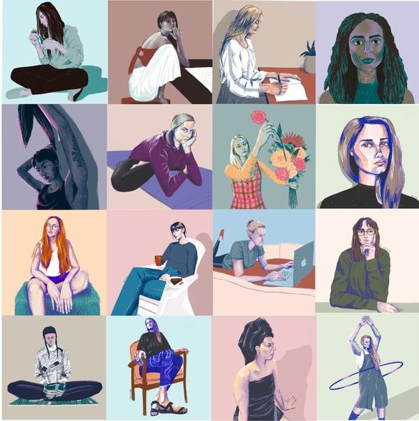 Image of Social distancing portraits