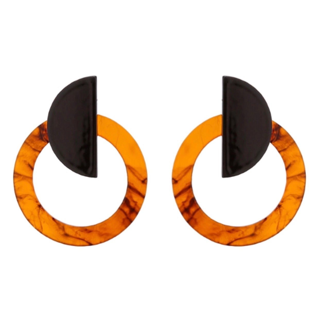 Image of Black and Tortoiseshell Statement Earrings
