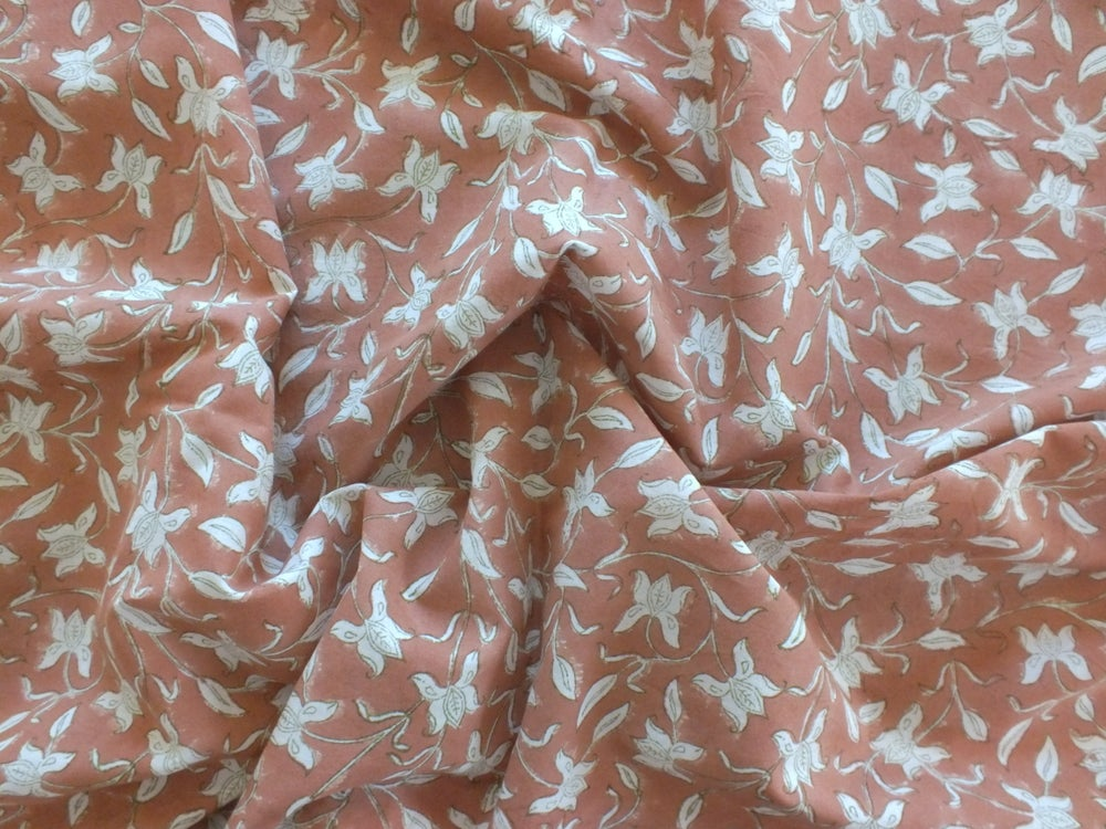 Image of Namasté fabric iris terracotta