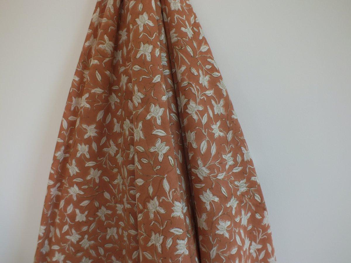 Image of Namasté fabric iris terracotta