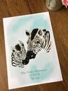 Zebra & Child Art Print