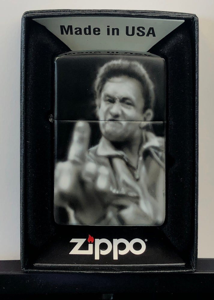 Image of Airbrushed Zippo (Cash, FU)  *painted to order