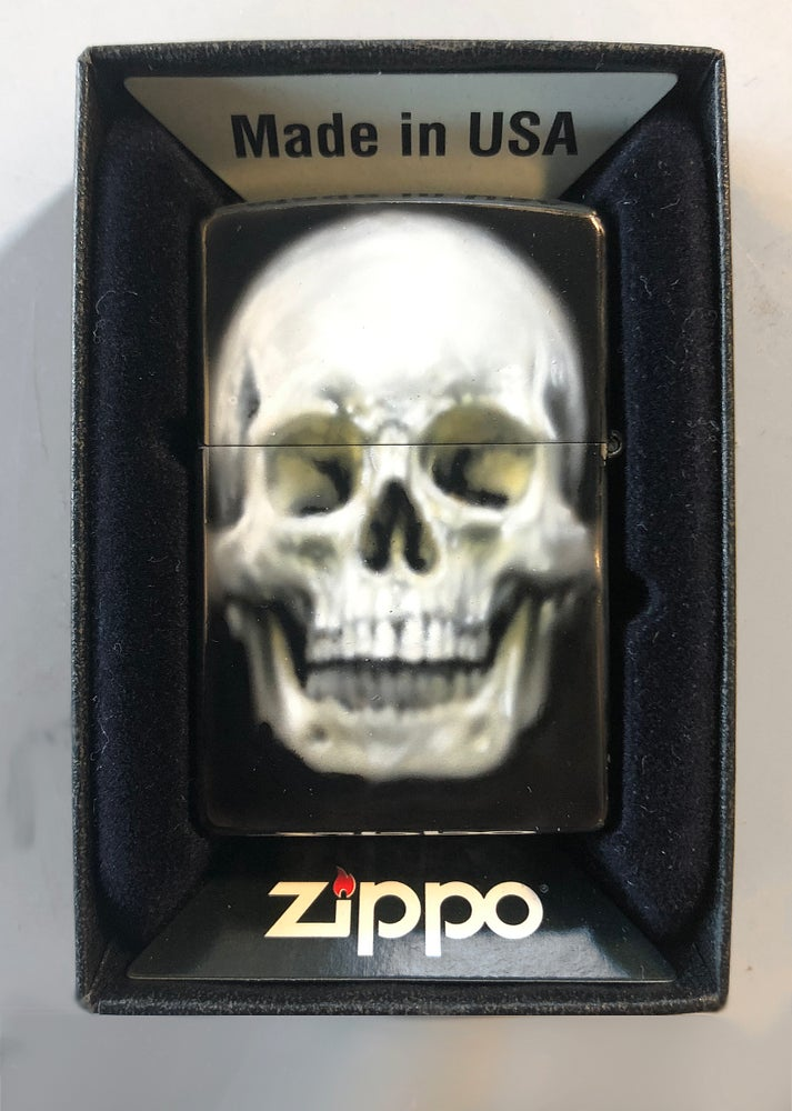 Image of Airbrushed Zippo (skull) *painted to order
