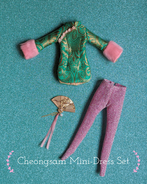 Image of Lounging Linda ~ Cheongsam Mini Dress Set