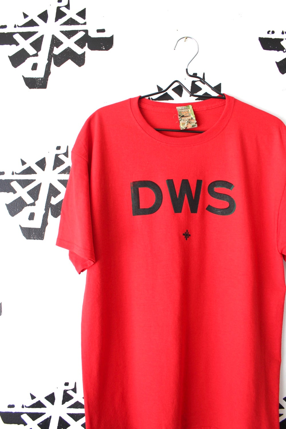 DWS tee in red