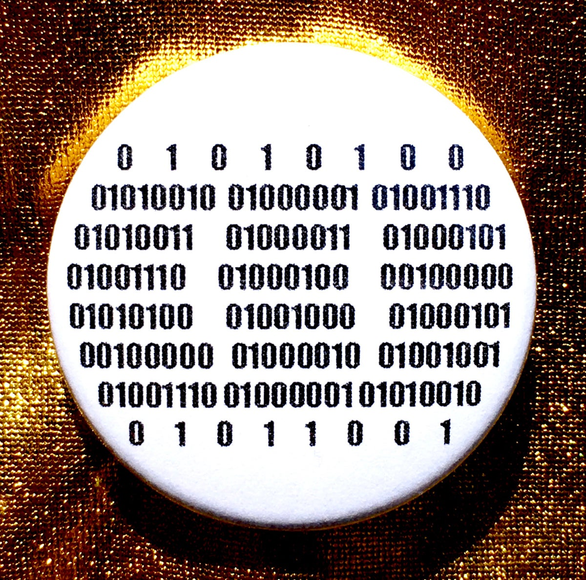 Image of Button #33 (TRANSCEND THE BINARY)