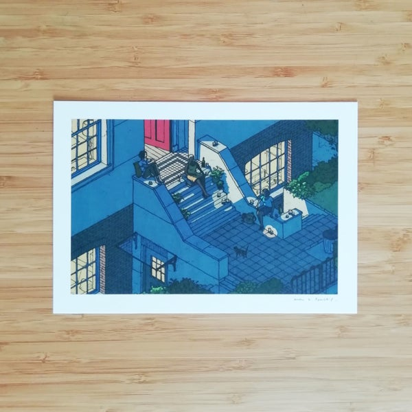 Image of On The Front Steps - SIGNED PRINT