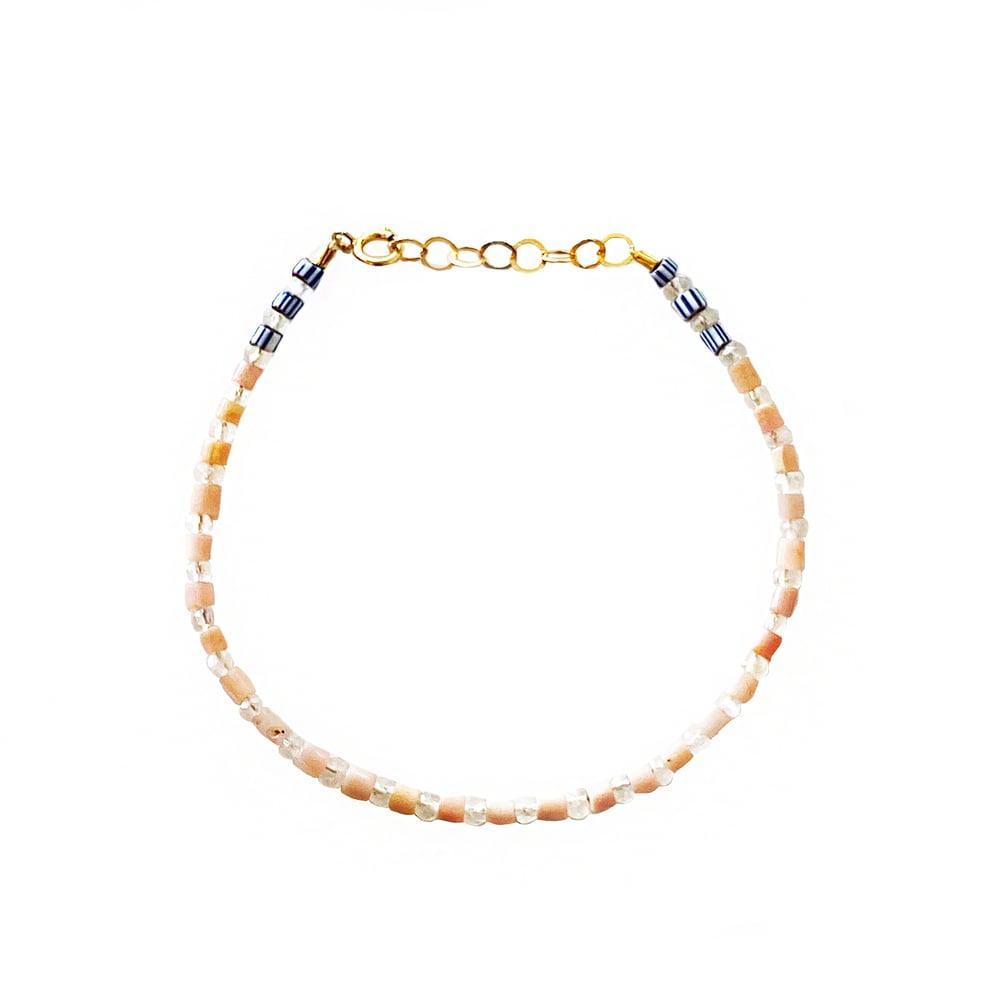 Image of Gold Filled Full Beaded Gemstone Bracelet